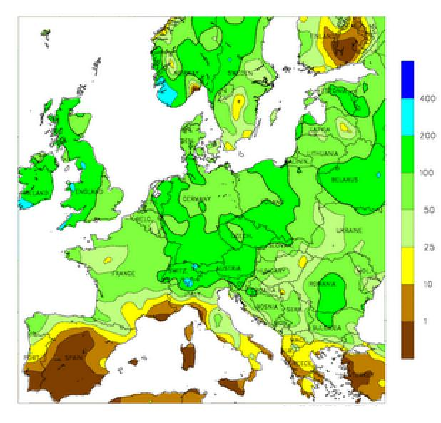 Precipitations Europe