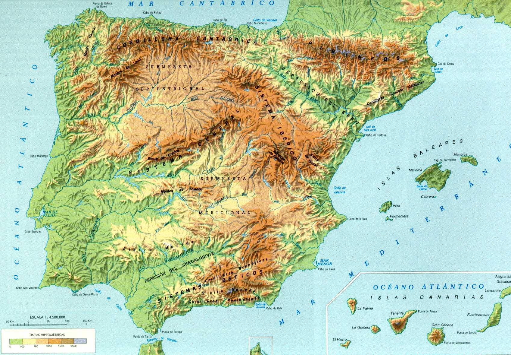mapa fisico de espanha Spain motorcycle :. Motorcycle rental and routes on Spain mapa fisico de espanha