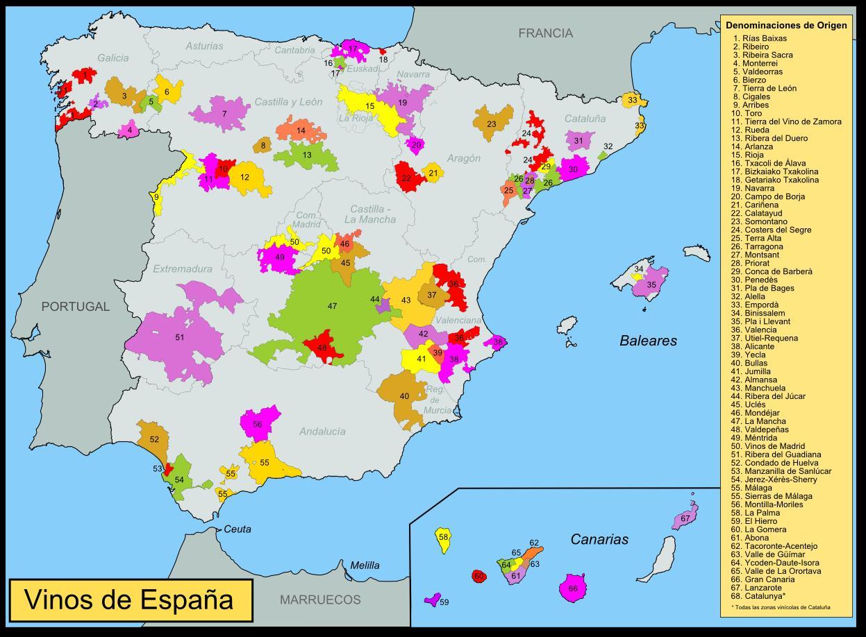 Spain Vine Map