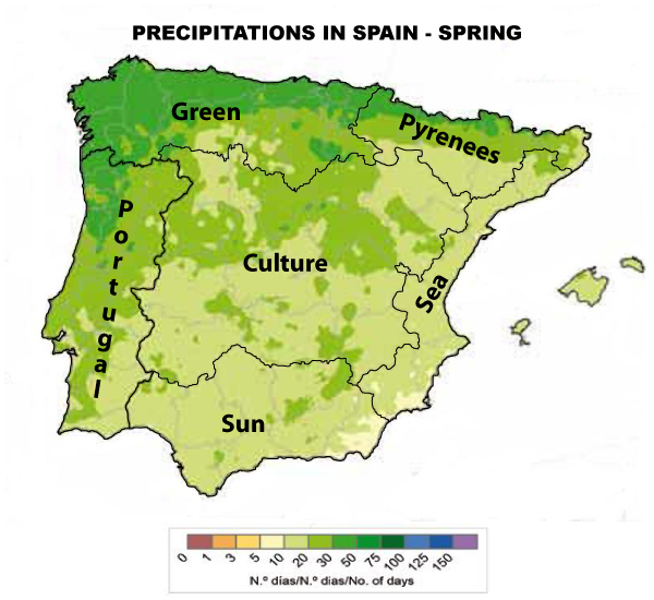 Precipitations Spain Spring
